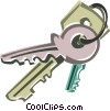 Vector Clip Art picture  of a keys