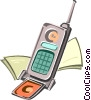 cell phone Vector Clipart illustration