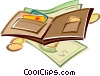 Vector Clipart graphic  of a wallet