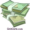 dollar bills Vector Clipart illustration