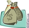 Vector Clipart picture  of a bag of money