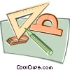 Vector Clipart image  of a geometry tools