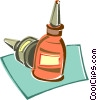 Vector Clip Art graphic  of a bottles of glue