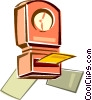 Vector Clipart picture  of a time clock