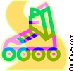 Vector Clip Art image  of a roller blades