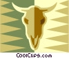 Vector Clipart illustration  of a cows skull