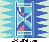egg timers Vector Clipart graphic