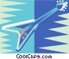 Vector Clipart illustration  of a electric guitar