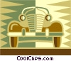 antique automobile Vector Clip Art graphic