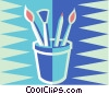 Vector Clipart graphic  of a paint brushes