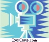 Vector Clipart graphic  of a movie camera