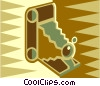 Vector Clip Art image  of an antique cameras