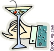 Vector Clip Art graphic  of a cocktail