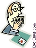 poker face Vector Clip Art picture