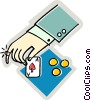 Vector Clip Art graphic  of a poker player