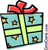 Vector Clip Art image  of a present