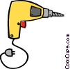 Vector Clip Art graphic  of a electric drill