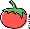 Vector Clipart graphic  of a tomato