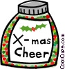 Vector Clip Art graphic  of a bottle of Christmas cheer