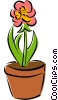 Vector Clipart graphic  of a potted flowers