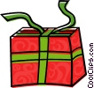 Vector Clip Art picture  of a present
