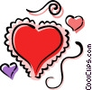 Vector Clip Art image  of a Valentine hearts