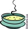 Vector Clip Art picture  of a bowl of soup