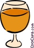Vector Clip Art image  of a brandy snifter