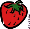 Vector Clip Art graphic  of a strawberry