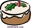 Vector Clipart image  of a Christmas cake