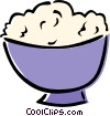 Vector Clip Art image  of a mashed potatoes