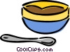 dessert dishes Vector Clipart illustration