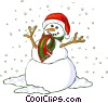 Vector Clip Art picture  of a snowman