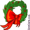 Christmas wreath Vector Clipart illustration