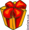 Vector Clipart graphic  of a present