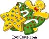Christmas cookies Vector Clipart illustration