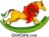 Vector Clip Art image  of a rocking horse