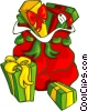 Christmas presents Vector Clip Art picture