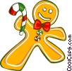 Gingerbread man cookies Vector Clipart graphic