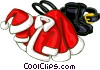 Vector Clip Art image  of a Santa suit