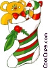 Christmas stocking Vector Clip Art picture