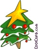 Christmas tree Vector Clipart image