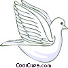 Vector Clipart illustration  of a peace dove