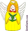 Vector Clip Art image  of an angels