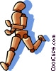 Vector Clipart graphic  of a man running