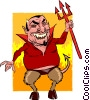 Cartoon devil Vector Clip Art image