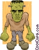 Vector Clip Art picture  of a Cartoon Frankenstein