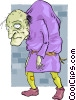 Hunchback of Notre Dame Vector Clip Art graphic