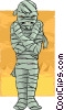 Vector Clipart graphic  of a Scary mummy