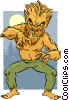 Vector Clip Art image  of a Cartoon Werewolf